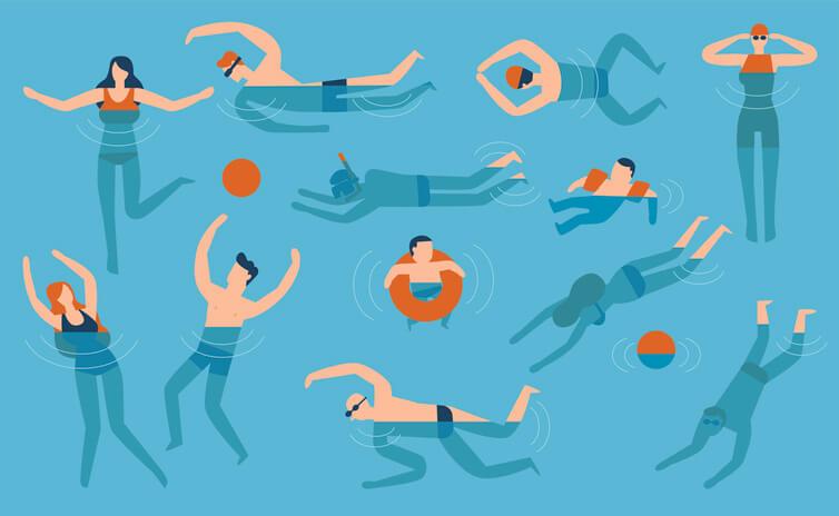 cách tập bơi trên cạn